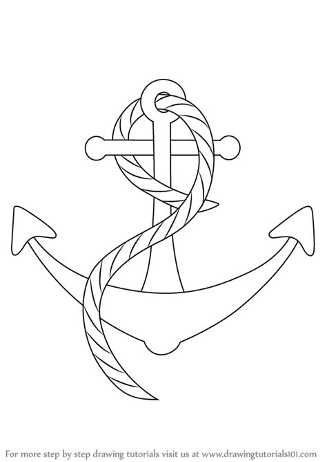 How To Draw A Old Boat by Learn How To Draw A Boat Anchor Boats And Ships Step By