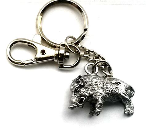 porte clefs sanglier porte cle sanglier chasse becasse