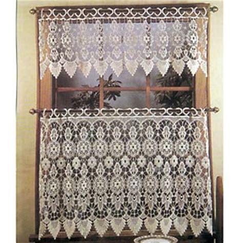 medallion macrame lace tier curtain boscov s