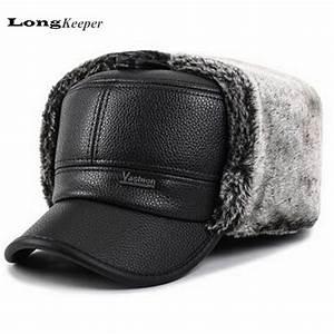 High quality fur mens hat winter protect head caps gorras ...