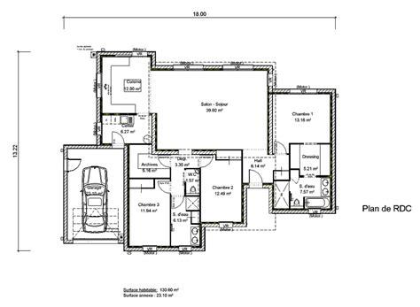plan maison toit plat 120m2 meuble oreiller matelas memoire de forme