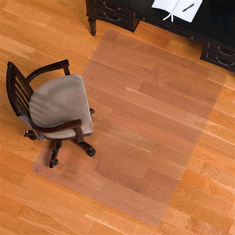 es robbins 174 everlife 46 quot x 60 quot clear rectangle chair mat for floors at menards 174