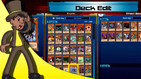 yugioh legacy of the duelist using the deck edit mode