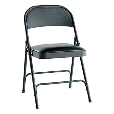 alera steel folding chairs padded seat graphite of