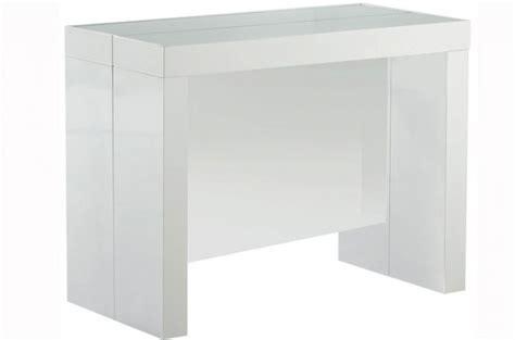 table console extensible transformable avec rangement argent laqu 233 declikdeco