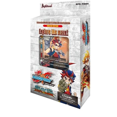 buddyfight braves explosion trading card trial deck 4