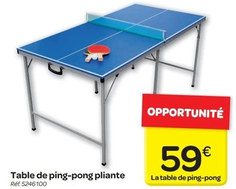 carrefour promotion table de ping pong pliante produit maison carrefour table de ping pong