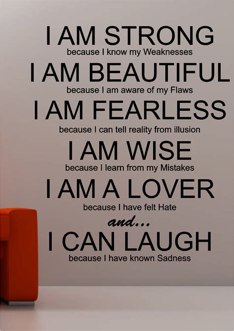i am strong inspirational wall quote sticker vinyl lounge bedroom ebay
