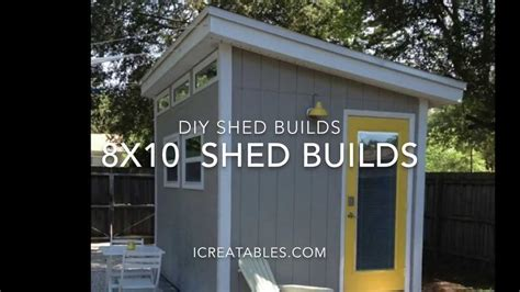 8x10 shed plans from icreatablestv
