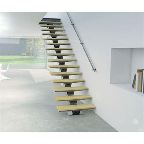 escalier droit sur mesure 224 limon central en kit pr 234 t 224 poser stairkaze z1 kozac