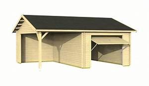 Holzgarage Mit Carport : einzelgarage carport mit schwingtor sams gartenhaus shop ~ Markanthonyermac.com Haus und Dekorationen