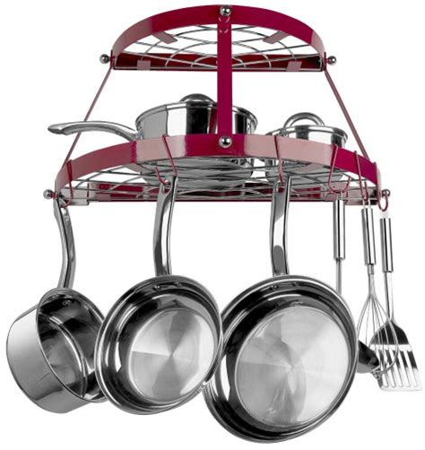 retro pot and pan hanging rack holder pots dining cookware kitchen organizer