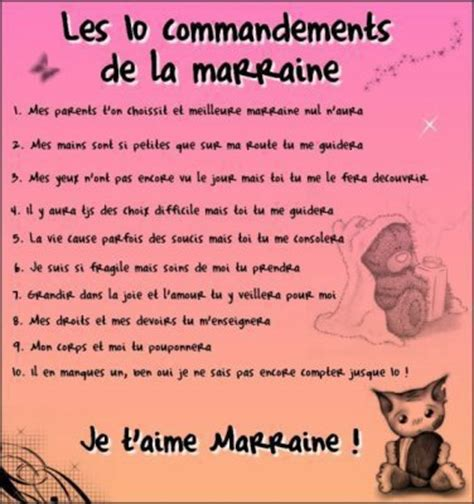 les 10 commandements de la marraine de x ma ptite vie a moi x
