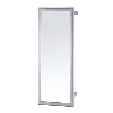 miroir coulissant pivotant gris h 80 x l 5 x p 30 cm leroy merlin