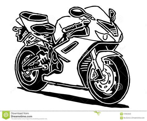 Sport Motorcycle Vector Illustration Stock Vector