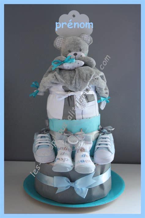 cadeau original naissance bapt 234 me g 226 teau de couches gar 231 on gris bleu d 233 coration pour enfants