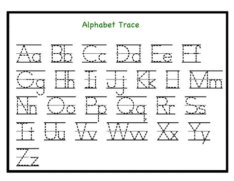Free Printable Letter Tracing Worksheets Pdf For Kindergarten Preschool & Toddlers
