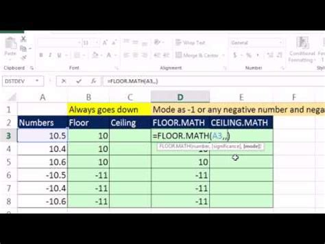 excel 2013 preview 3 floor math ceiling math to