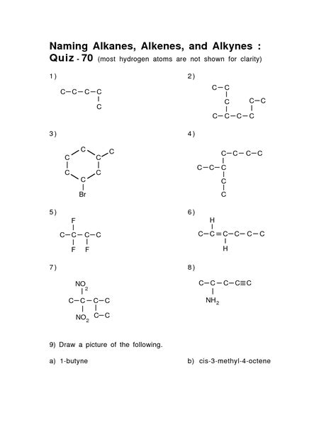 9 Best Images Of Identifying Organic Compounds Worksheet