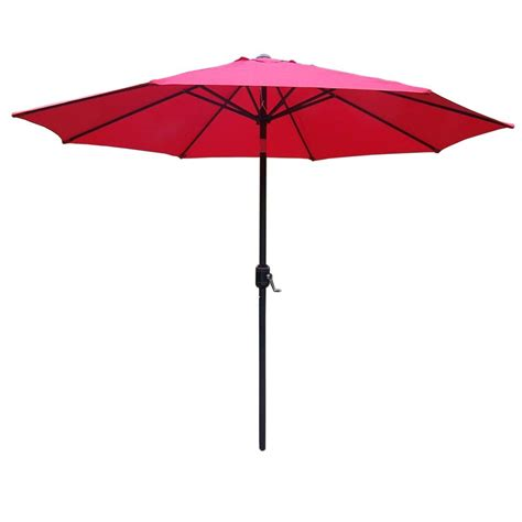 9 ft tilt patio umbrella hd4005 rd bk the home depot