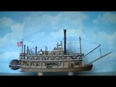 Model Steam Boat Youtube by A Steamboat Model From 1888 Youtube