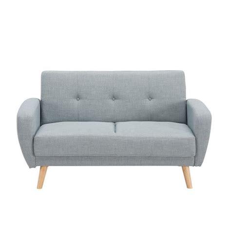 canap 233 2 places convertible scandinave gris silo achat vente canap 233 sofa divan cdiscount