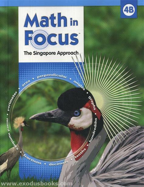 Math In Focus 4b  Textbook  Exodus Books