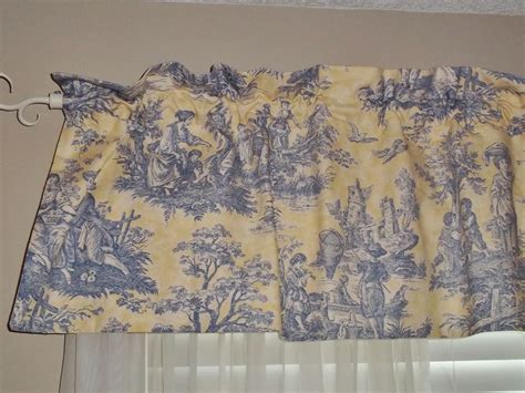 waverly yellow blue country toile valance