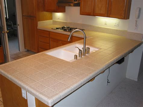 Tile Kitchen Countertops In Modern House