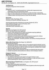 Resume: Emergency Response Crisis Counselor - Susan ...