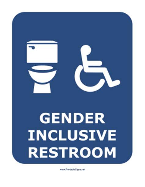 printable gender inclusive restroom sign