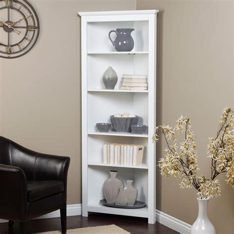 living room corner cabinet ideas redford white corner bookcase at hayneedle