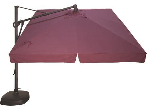 treasure garden cantilever aluminum 10 foot wide crank lift tilt lock umbrella akzsq