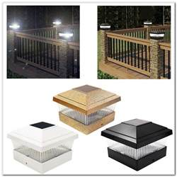 solar powered deck post cap lights decks home decorating ideas n92zleor63