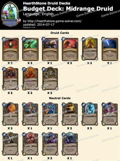 budget deck midrange druid