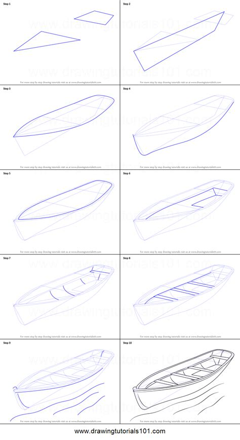How To Draw A Dragon Boat by How To Draw A Boat Printable Step By Step Drawing Sheet