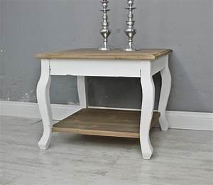Beistelltisch Weiß Holz : couchtisch tisch beistelltisch wei braun landhaus holztisch holz robust massiv ebay ~ Markanthonyermac.com Haus und Dekorationen