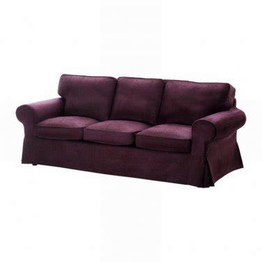 ikea ektorp 3 seat sofa cover slipcover tullinge lilac purple bezug housse