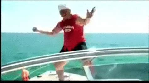 Drunk On A Boat by Drunk Guy Jumps Off A Boat On Make A Gif