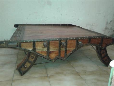 table basse bois exotique massif et m 233 tal inde luckyfind