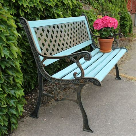 Paint For Wrought Iron Garden Furniture wrought iron painted garden bench outdoor inspirations