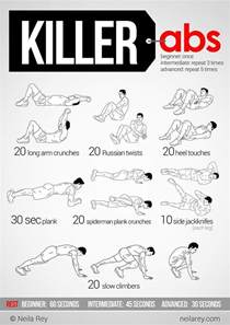 at home ab workout 1000 ideas about ab workouts on ab