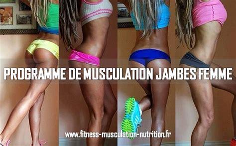 programme de musculation jambes femme