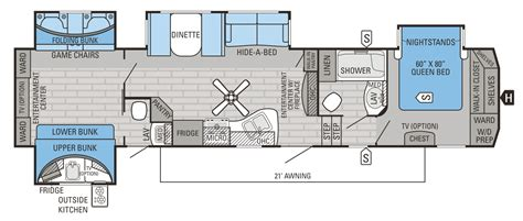 fifth wheel bunkhouse floor plans meze
