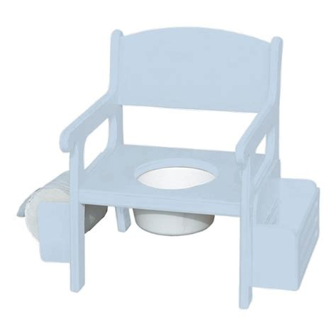 baby blue wooden potty chair w accessories baby n toddler