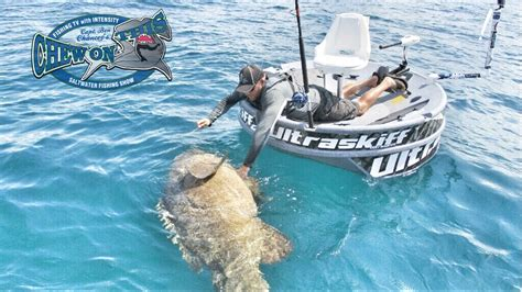 Huge Boat by Huge Goliath Grouper Little Boat Fishing Challenge Here
