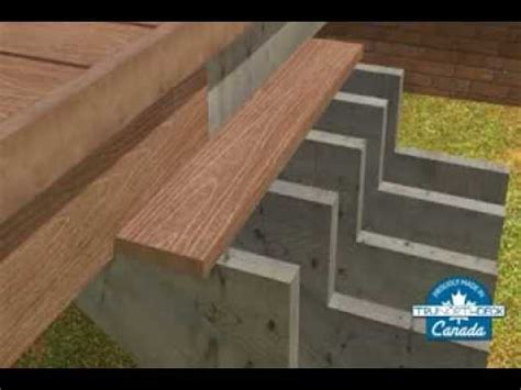 composite deck building stair installation