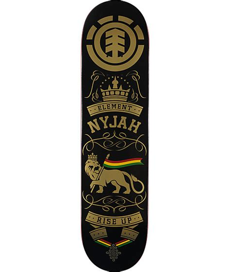 element nyjah rise up 8 0 quot pro skateboard deck