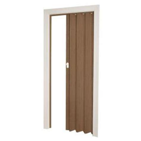 accordion doors home depot ltl home products 32 in x 80 in woodbridge vinyl nutmeg