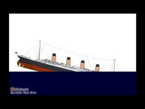 titanic sinking for real time